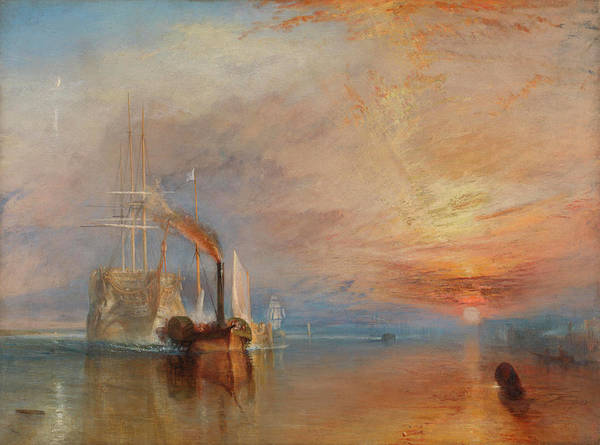 Pulling Painting - The Fighting Temeraire by Joseph Mallord William TURNER