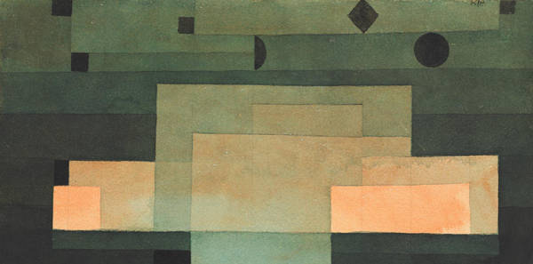 Painting - The Firmament Above The Temple by Paul Klee