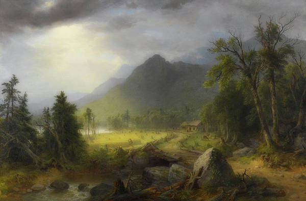 Farmstead Painting - The First Harvest In The Wilderness by Asher Brown Durand