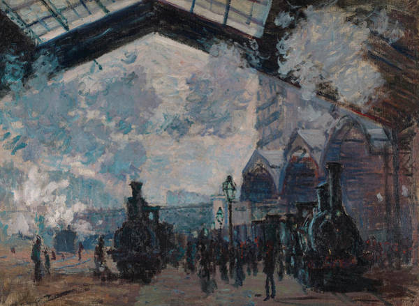 Lazare Painting - The Gare St-lazare by Claude Monet