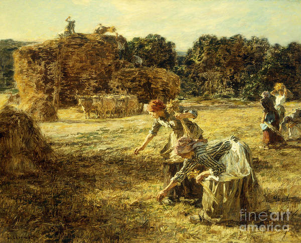 Wall Art - Painting - The Gleaners by Leon Augustin Lhermitte