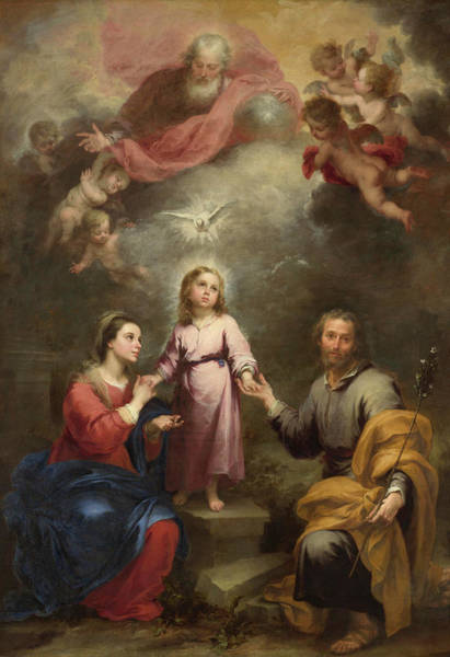 Holy Trinity Painting - The Heavenly And Earthly Trinities by Bartolome Esteban Murillo