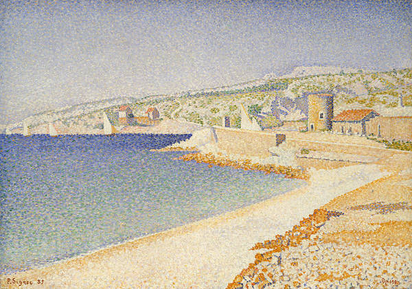 Painting - The Jetty At Cassis, Opus 198 by Paul Signac