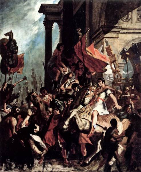 Painting - The Justice Of Trajan by Eugene Delacroix