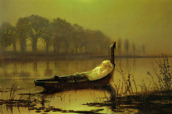 Wall Art - Painting - The Lady Of Shalott by John Atkinson Grimshaw