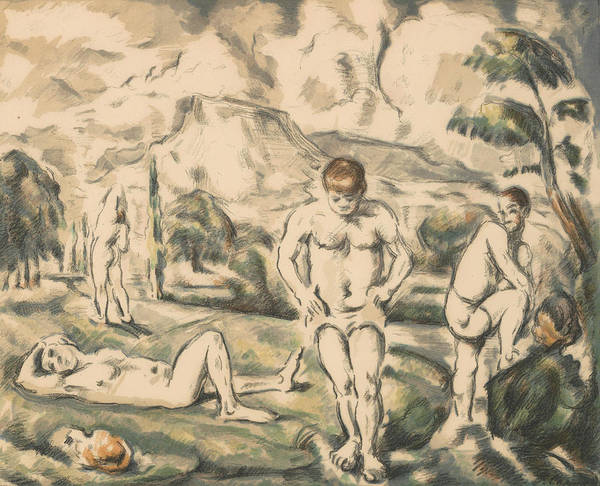 Relief - The Large Bathers -- by Paul Cezanne