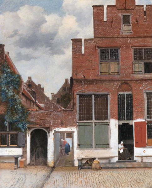 Painting - The Little Street by Johannes Vermeer