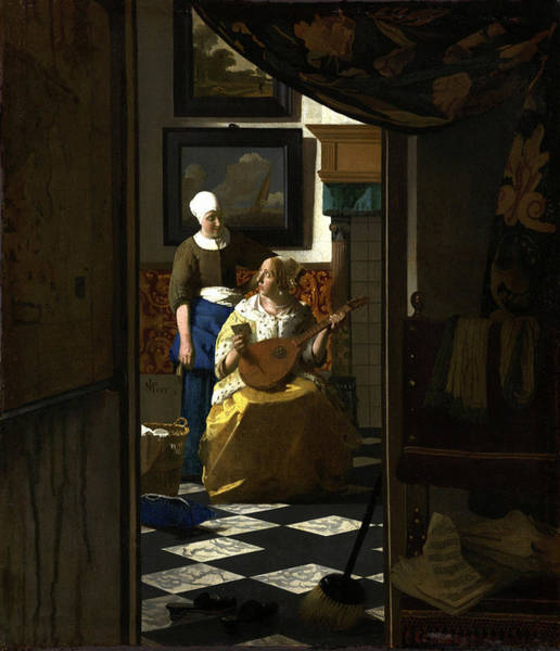 Painting - The Love Letter by Johannes Vermeer