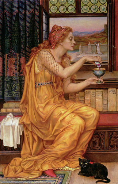 Wall Art - Painting -  The Love Potion  by Evelyn De Morgan