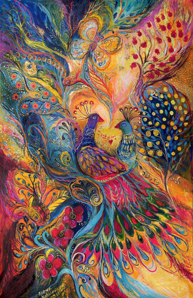 Kabbalistic Wall Art - Painting - The Magic Garden by Elena Kotliarker