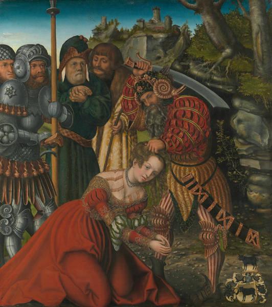 Cranach Painting - The Martyrdom Of Saint Barbara by Lucas Cranach the Elder