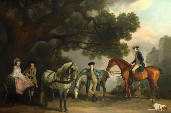 Nobility Painting - The Milbanke And Melbourne Families by George Stubbs