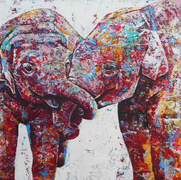 Wall Art - Painting - The Mischief Makers Detail by Angie Wright