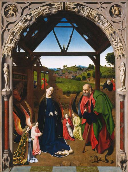 Redeemer Wall Art - Painting - The Nativity by Petrus Christus