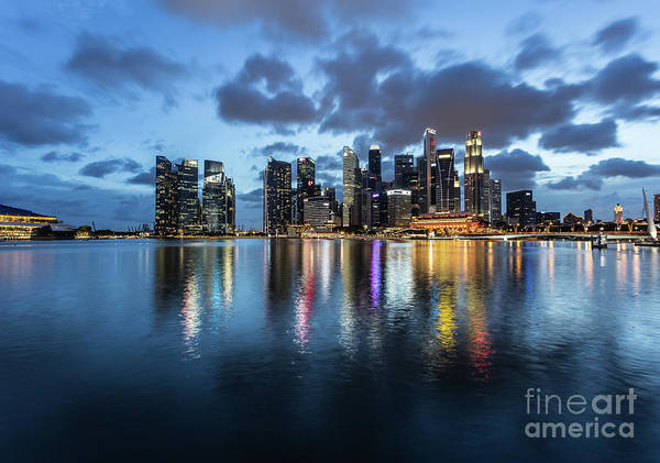 Photograph - The Nights Of Singapore by Didier Marti