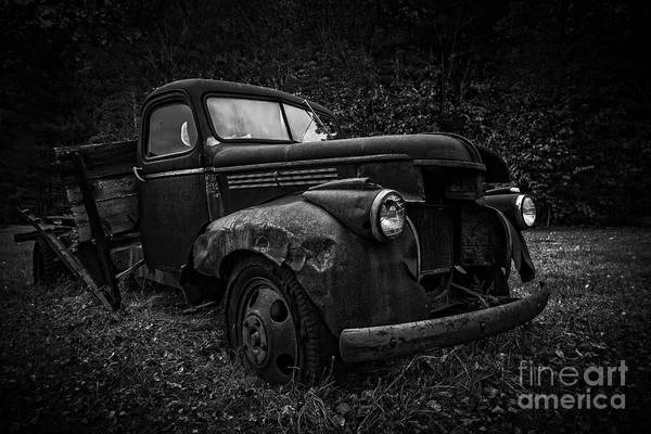 Photograph - The Old Farm Truck by Edward Fielding