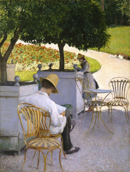Wall Art - Painting - The Orange Trees by Gustave Caillebotte