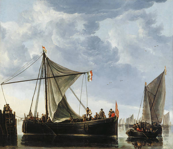 Cuyp Wall Art - Painting - The Passage Boat by Aelbert Cuyp