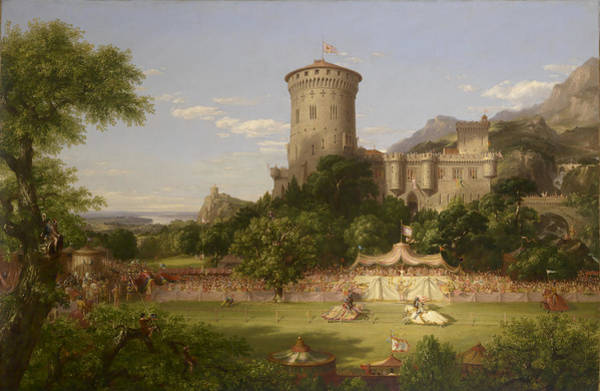 Wall Art - Painting - The Past by Thomas Cole