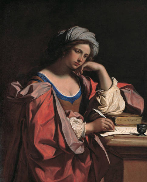 Wall Art - Painting - The Persian Sibyl by Guercino