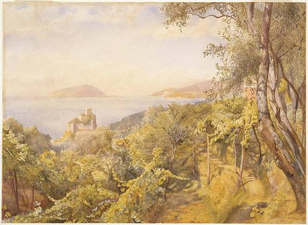 Roderick Painting - The Priest Garden by Henry Roderick