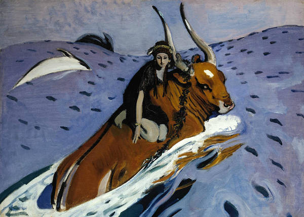 Painting - The Rape Of Europa by Valentin Serov