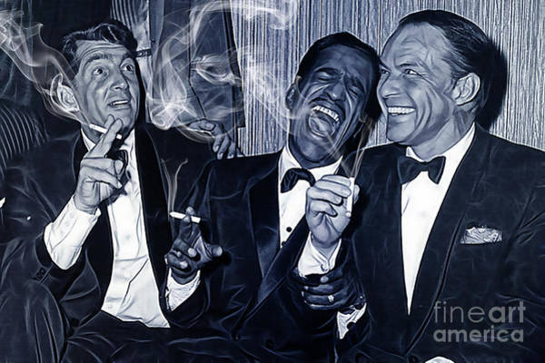 Music Room Mixed Media - The Rat Pack Collection by Marvin Blaine