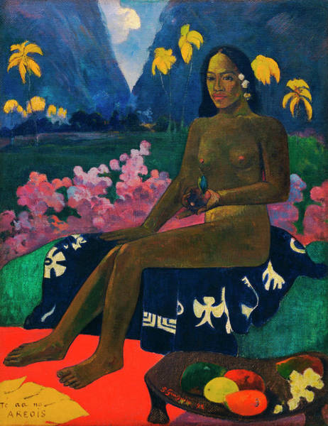 Wall Art - Painting - The Seed Of The Areoi by Paul Gauguin