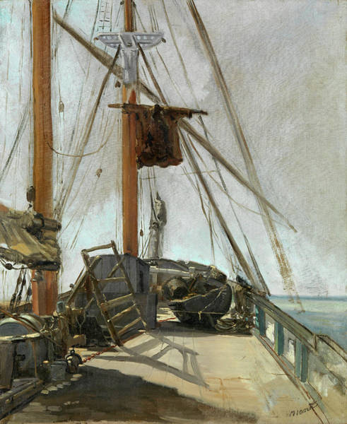 Deck Painting - The Ship's Deck by Edouard Manet