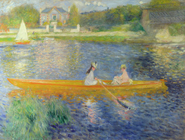 Rail Painting - The Skiff  by Pierre-Auguste Renoir