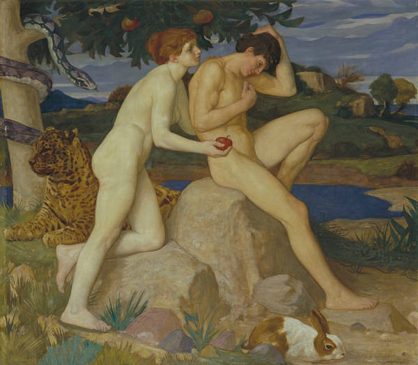 Painting - The Temptation by William Strang