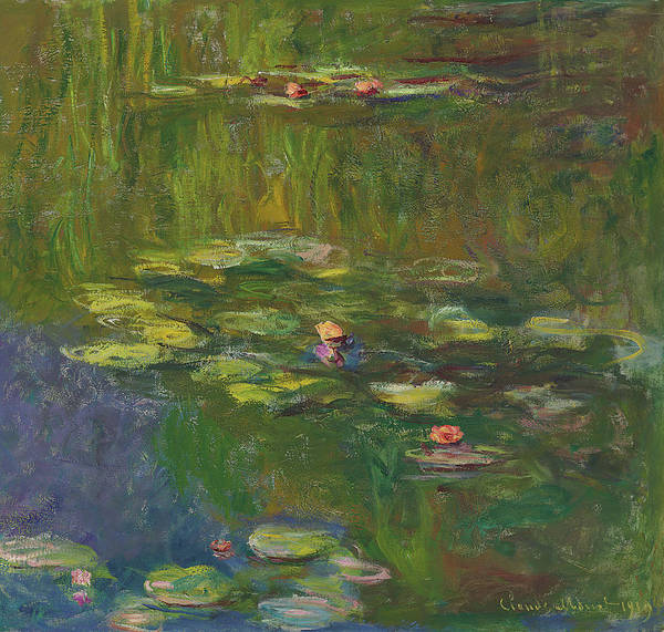 Nympheas Painting - The Water Lily Pond by Claude Monet
