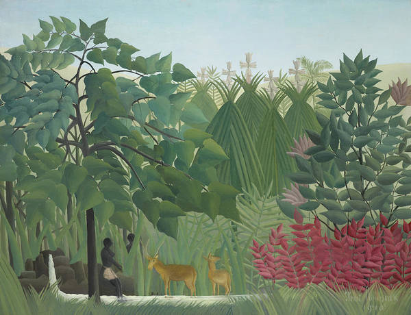 Wall Art - Painting - The Waterfall by Henri Rousseau