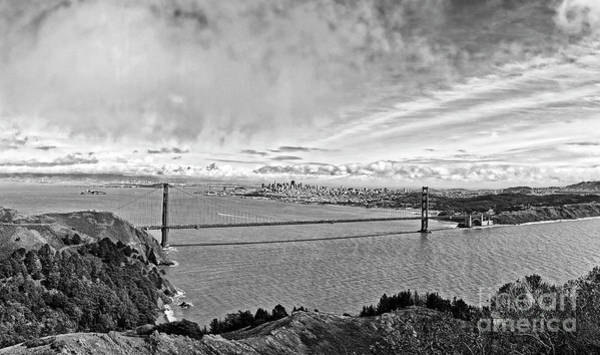 Marin Headlands Photograph - The World Famous Golden Gate Bridge In San Francisco, California by Jamie Pham