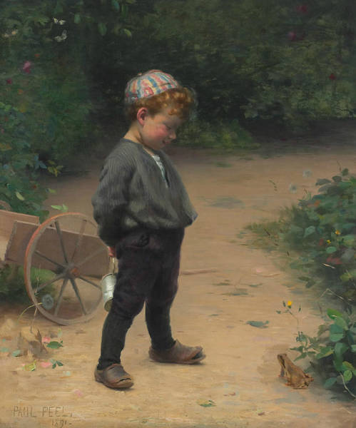 Painting - The Young Biologist by Paul Peel
