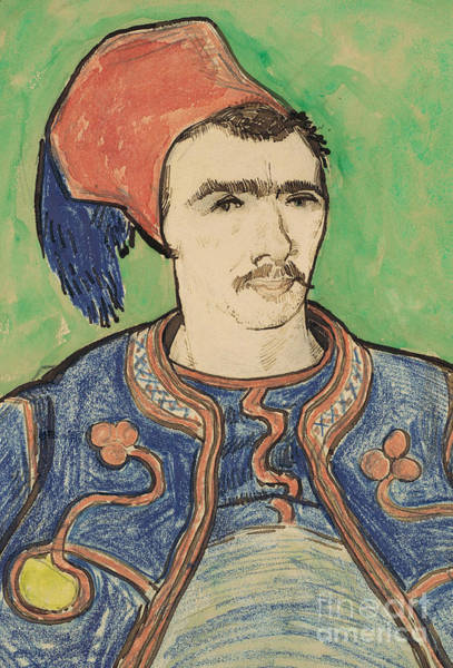 Wall Art - Painting - The Zouave by Vincent Van Gogh