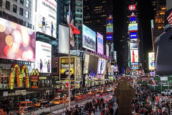 Photograph - Times Square  by Robert J Caputo