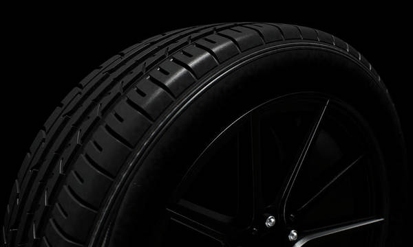 Mag Wheels Wall Art - Digital Art - Tire Dark Background by Allan Swart