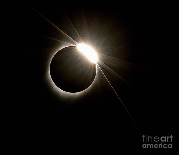 Photograph - Total Solar Eclipse by Mark Jackson