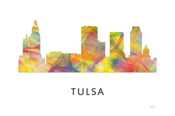 Ok Digital Art - Tulsa Oklahoma Skyline by Marlene Watson