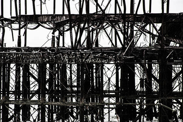 Steel Construction Wall Art - Photograph - Twisted Metal by Martin Newman