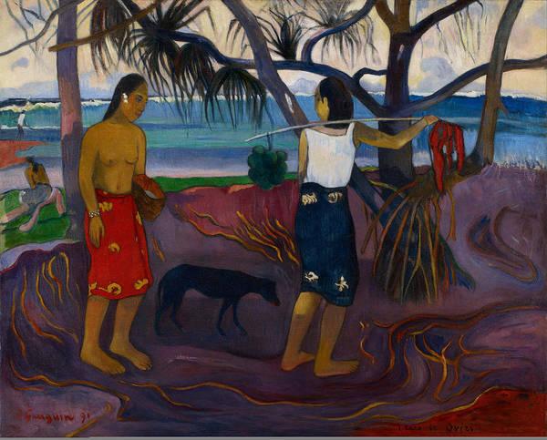 Painting - Under The Pandanus II by Paul Gauguin