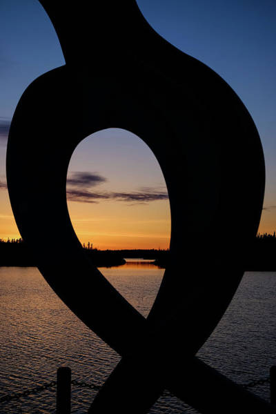 Photograph - United In Celebration Sculpture At Sunset 3 by John McArthur