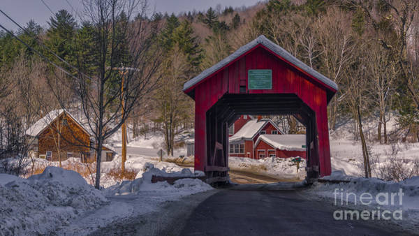 Photograph - Upper Cox Brook Covered Bridge by Scenic Vermont Photography
