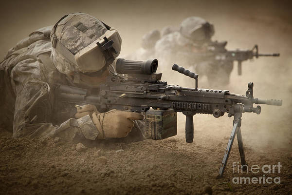 Photograph - U.s. Army Ranger In Afghanistan Combat by Tom Weber