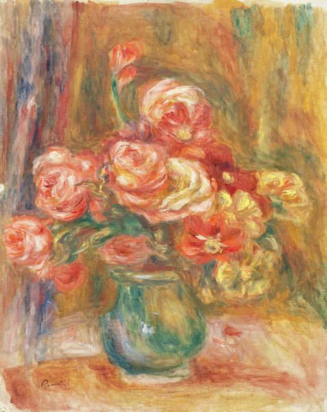 Wall Art - Painting - Vase Of Roses by Pierre-Auguste Renoir