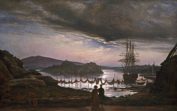Painting - View From Vaekero Near Christiania by Johan Christian Dahl