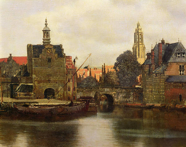 Townscape Wall Art - Painting - View Of Delft by Jan Vermeer