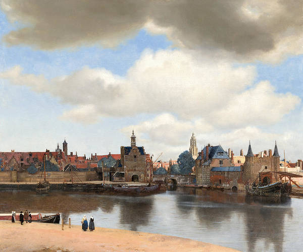 Yellow Ochre Painting - View Of Delft by Johannes Vermeer