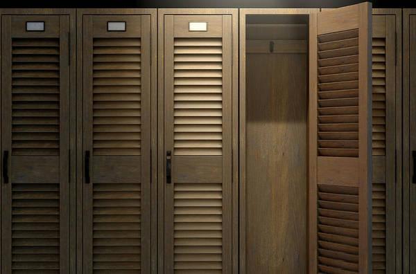 Wall Art - Photograph - Vintage Locker And Open Door by Allan Swart